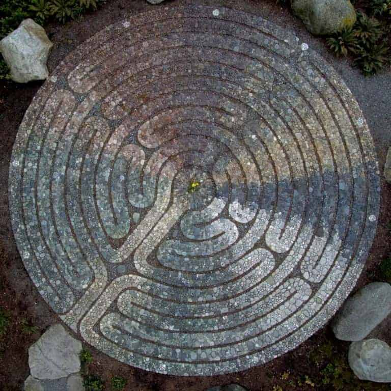 Bainbridge Island Halls Hill Lookout Labyrinth Map