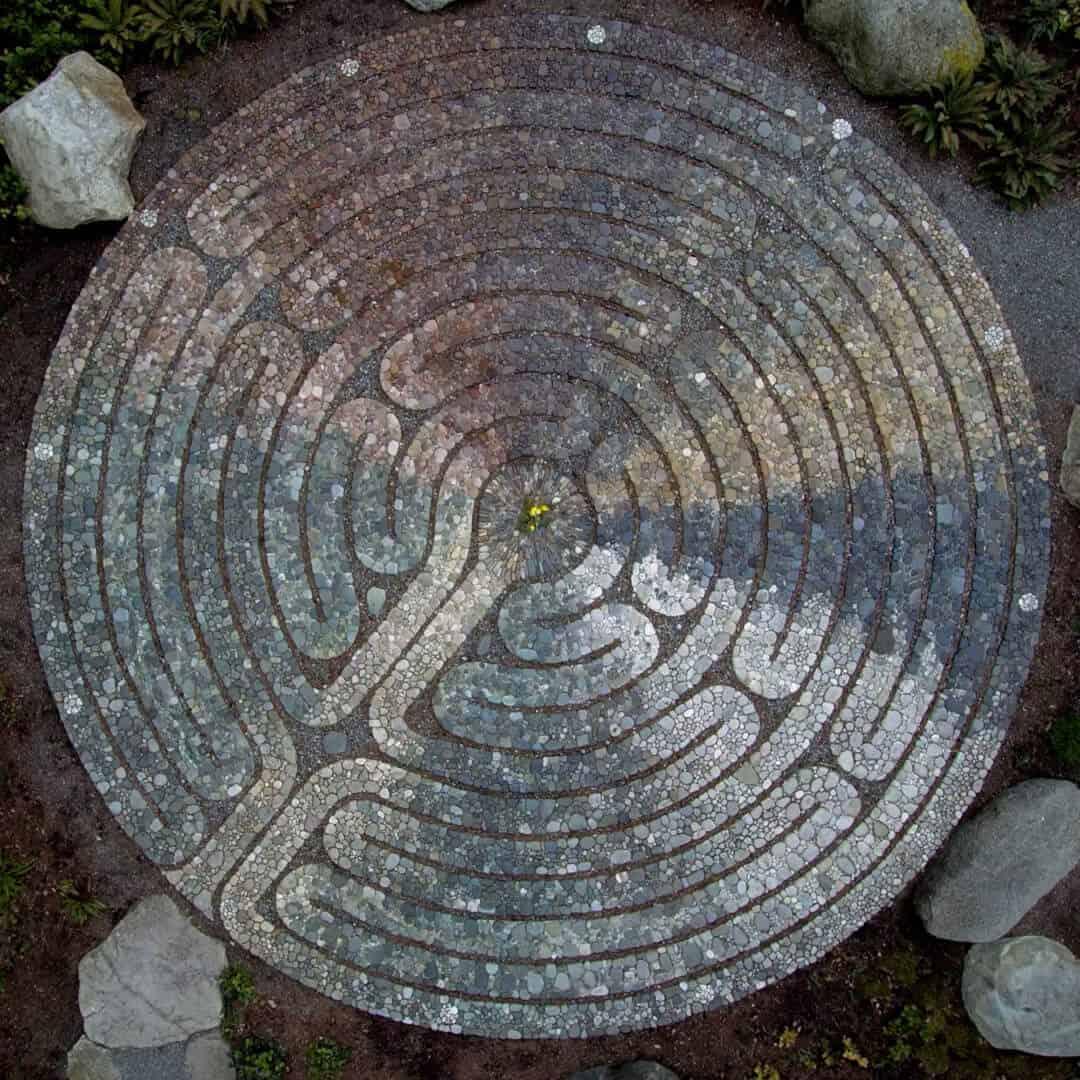 Bainbridge Island labyrinth Halls Hill Lookout