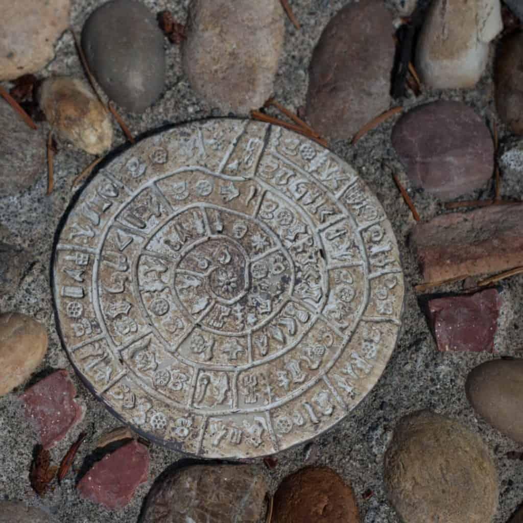 Labyrinth mosaic detail