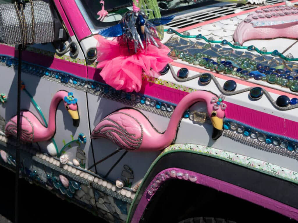 Flamingo Crossing Car
