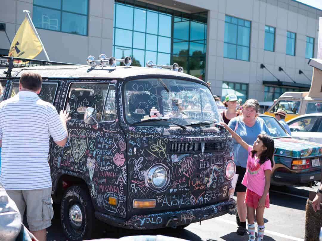 Chalkboard Volkswagen Bus Seattle Art Cars Fremont Fair Art Cars