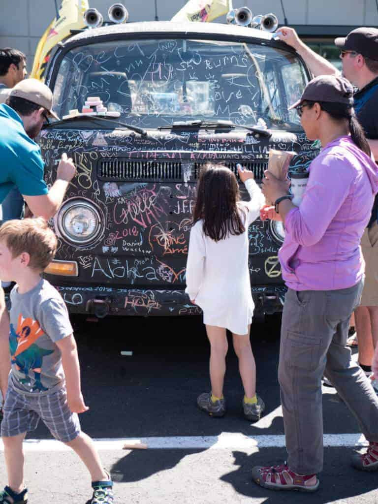 Chalkboard VW at the Seattle Fremont Fair Art Car Blowout