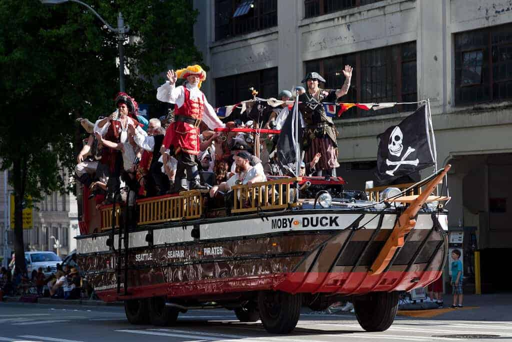 Seattle Seafair Torchlight Parade Pirates