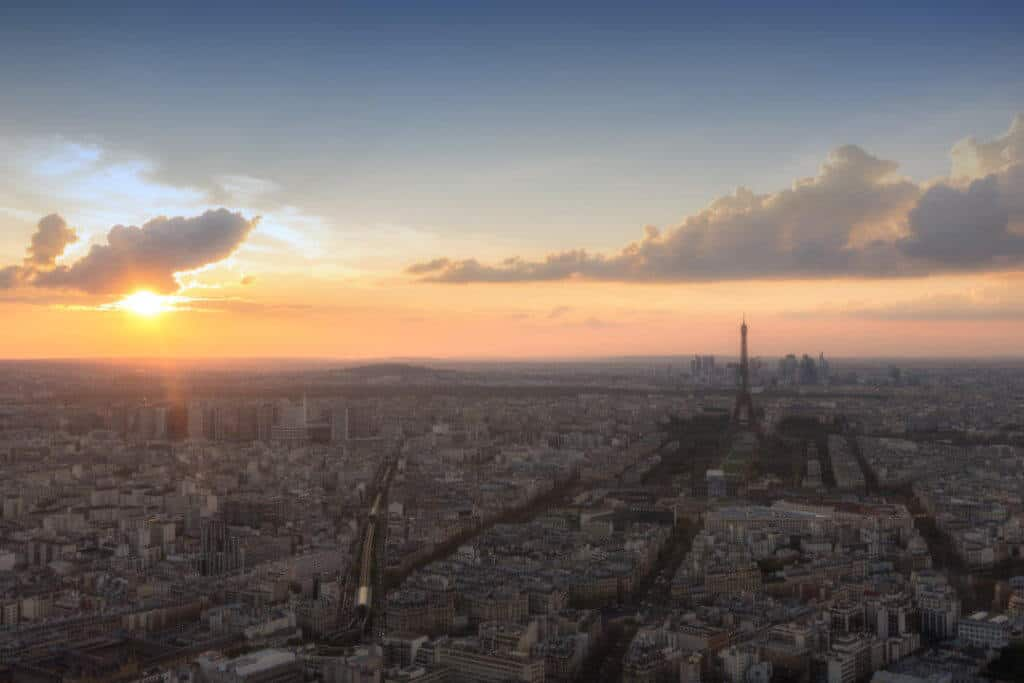 View of Paris from Montparnasse Tower