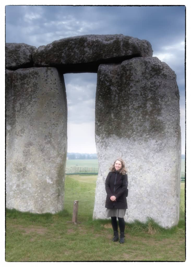 Standing in front of Stonehenge