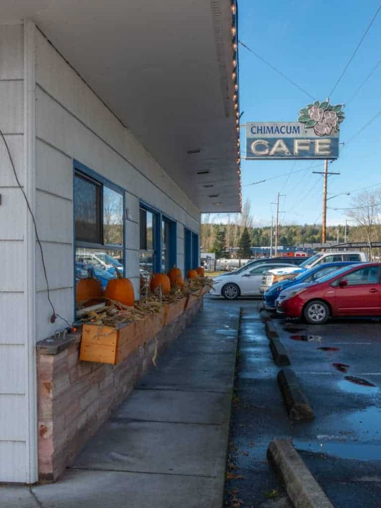 A picture of the Chimicum Cafe which has some of the best pie in the pacific northwest Best pies western washington best Seattle pie