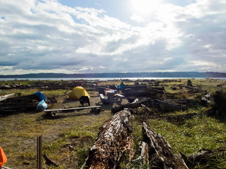 Blake Island Camping the WWTA campground Blake Island kayaking campground