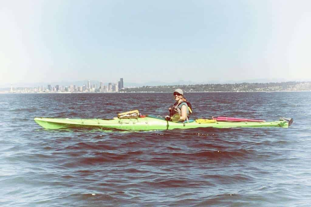 Cheryl in Kayak