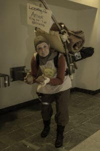 Patsy from Monty Python and The Holy Grail at SakuraCon 2014.