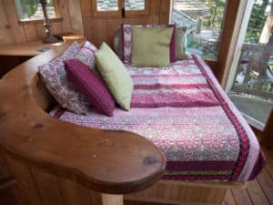 Bed at the Forest House
