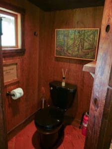 Toilet at The Burl at Treehouse Point