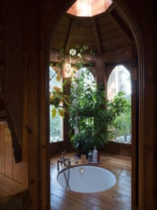 the tub room at the forest house