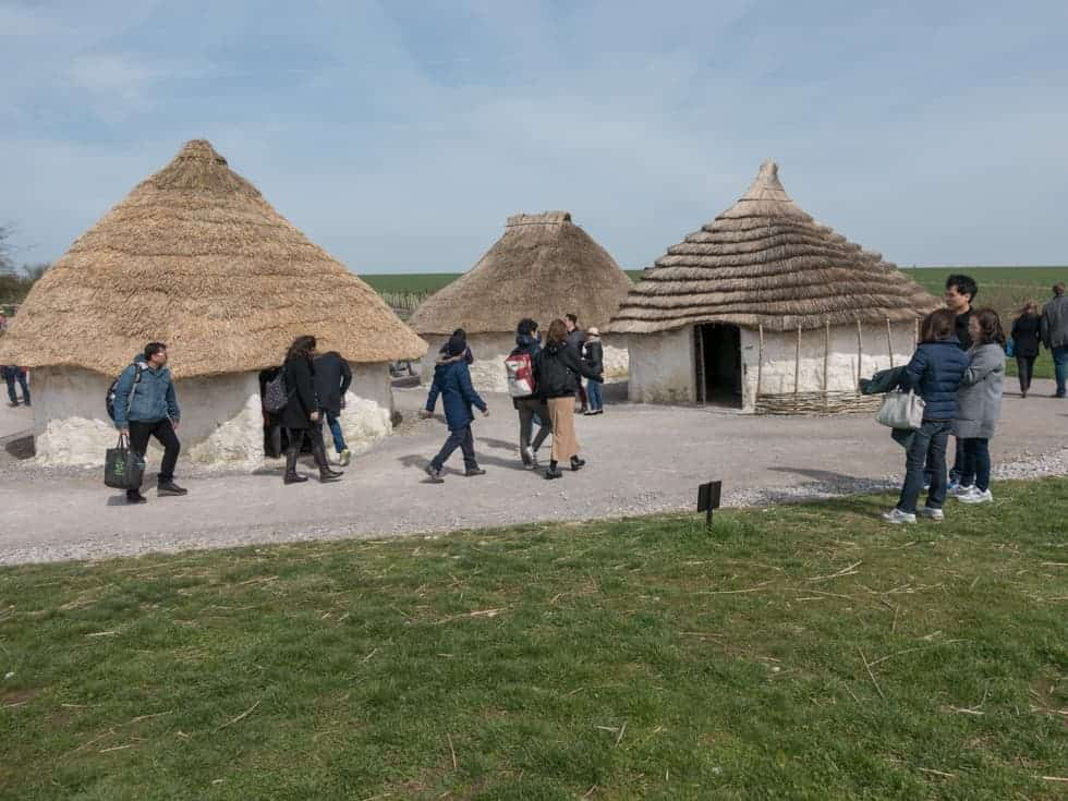 Huts at the Stonehenge Visitor Centre