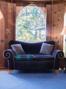 sofa at the Forest House