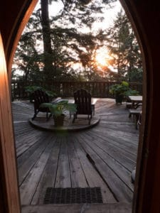 sunrise at the Forest House