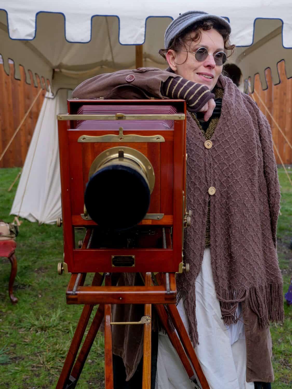 historic camera at the Port Townsend Victorian festival