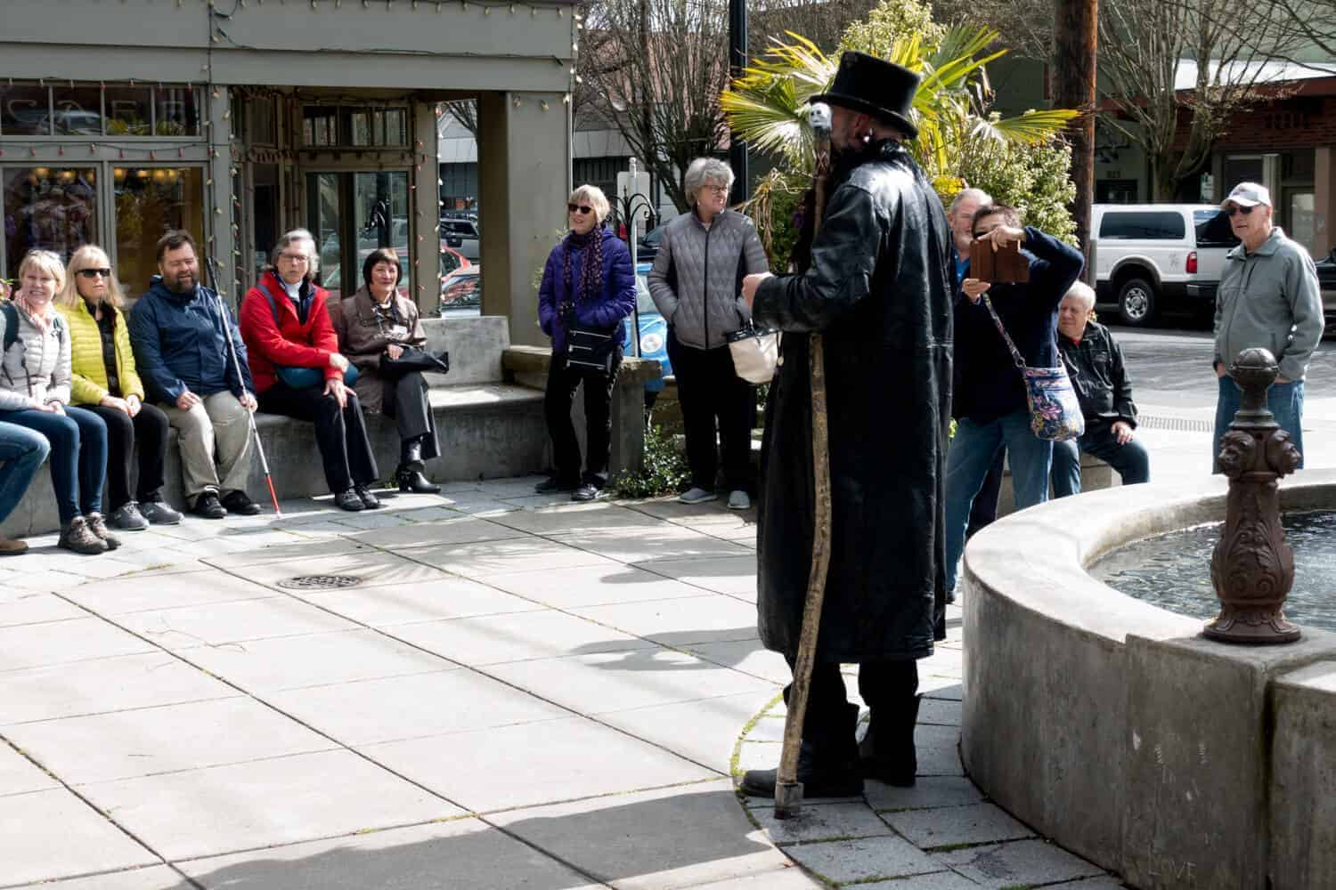 a ghost tour during the port townsend victorian festival