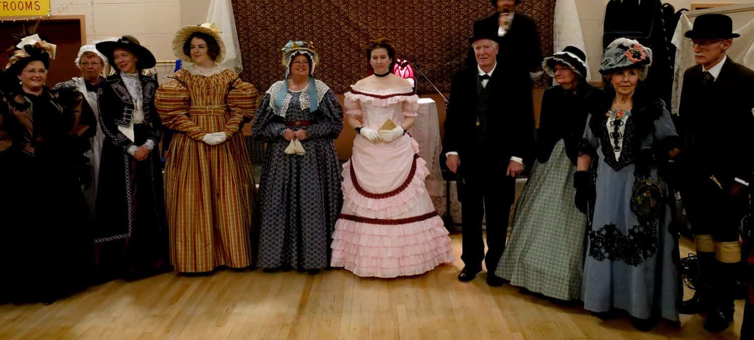 historical costumes at the Port Townsend Victorian Festival