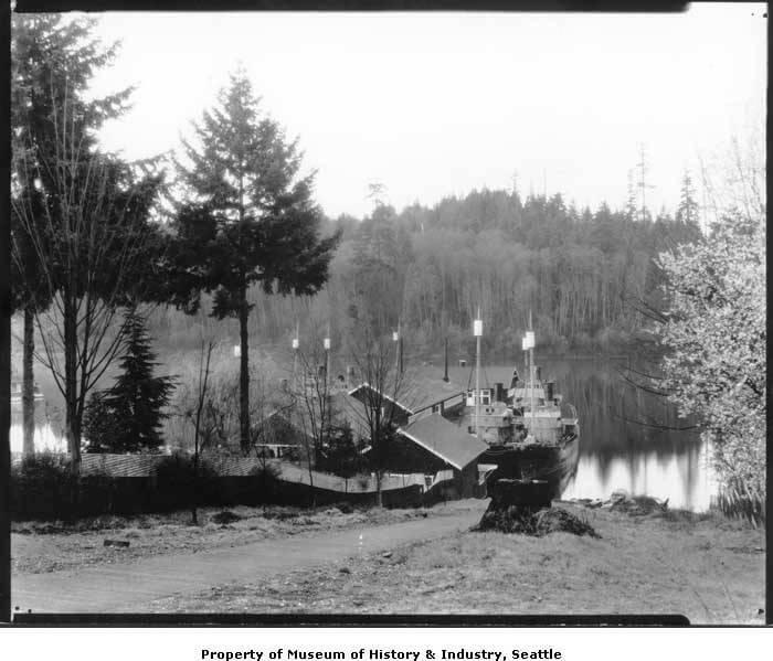 Whaleboats on Meydenbauer Bay Lake Washington
