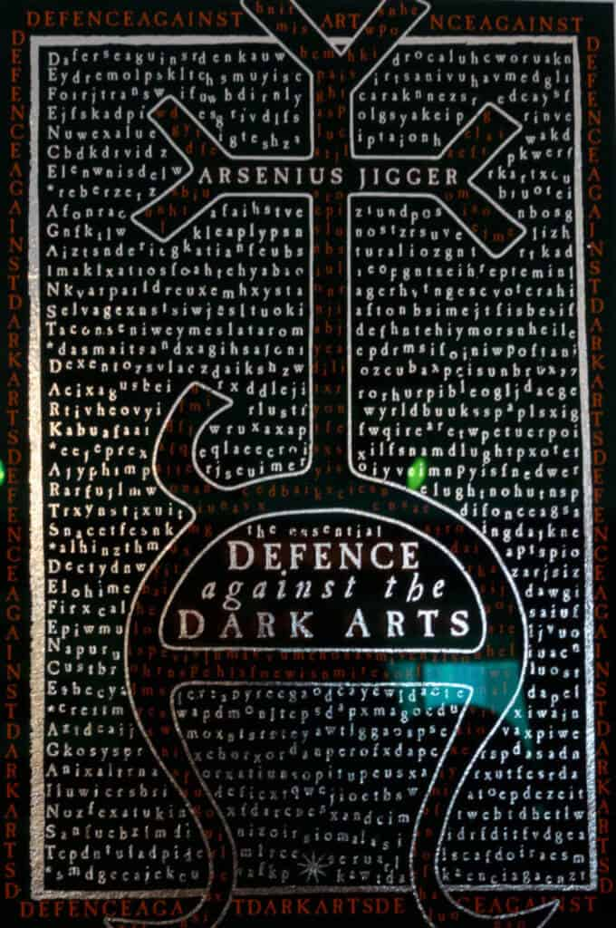 Defence against the Dark Arts cover art from Harry Potter from the House of Mina Lima Harry Potter Gallery London