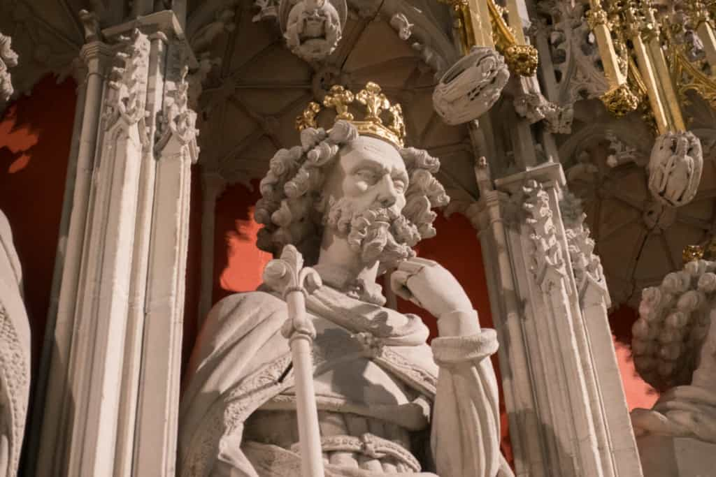 Closeup of Edward II from the York Minster Kings Screen