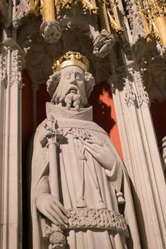 Henry I from the York Minster Kings' Screen