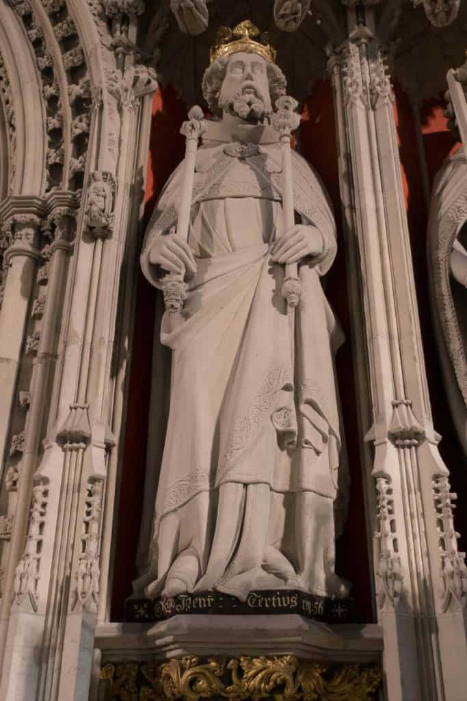 Henry III from York Minster Kings Screen