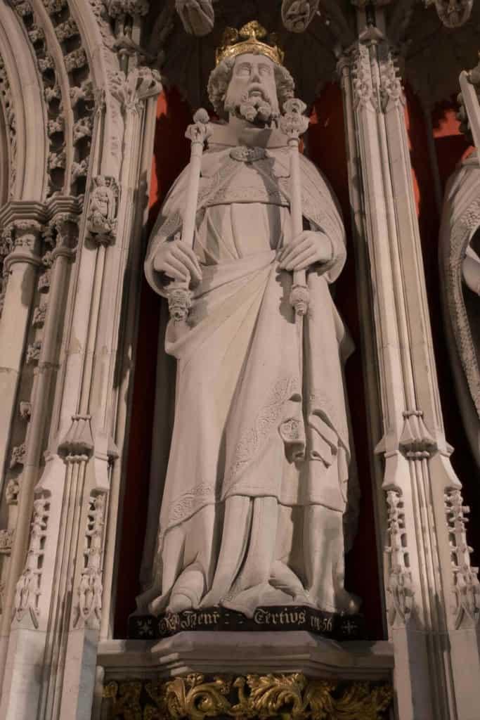 Henry III from York Minster Kings Screen