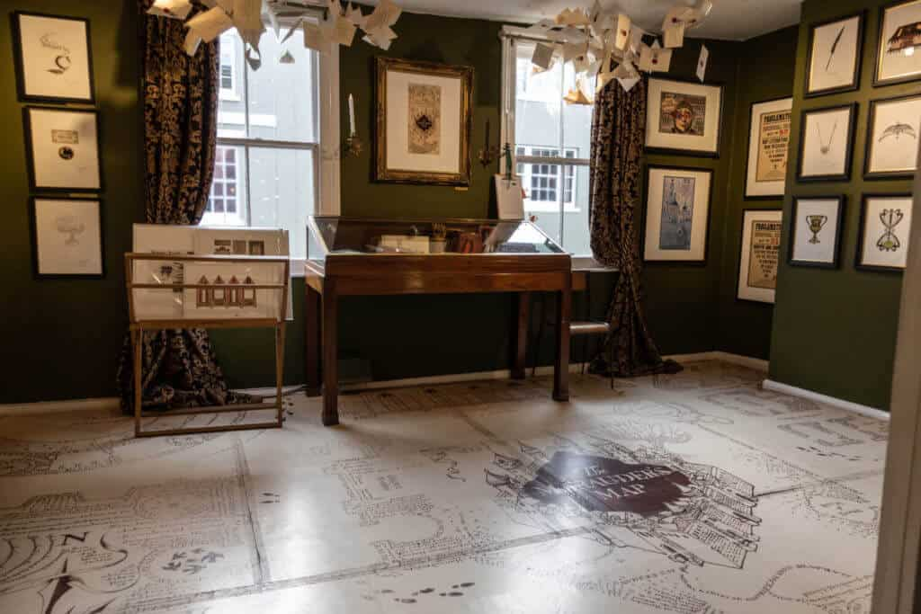 Marauder's Map floor at the House of MinaLima Harry Potter gallery in London