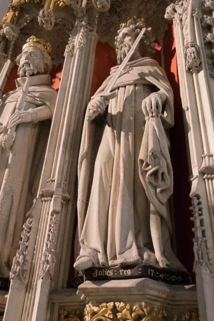 King John Lackland on the York Minster King's Screen