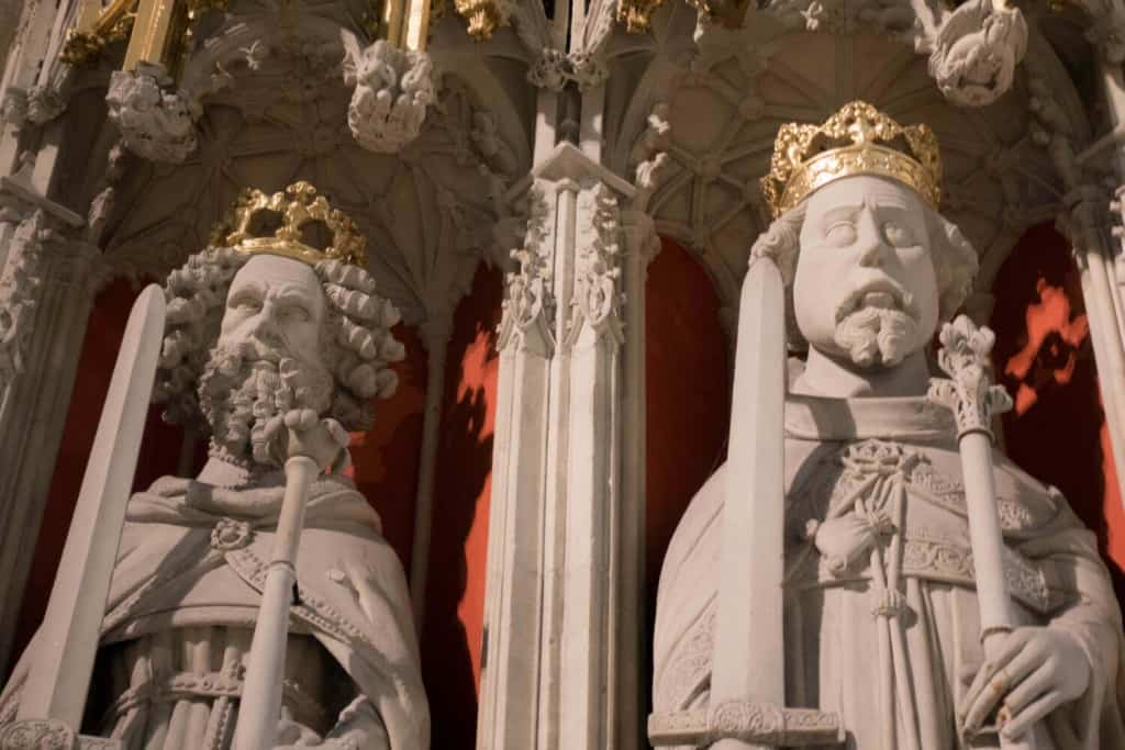 Photo of William the Conqueror and William II from the York Minster Kings Screen