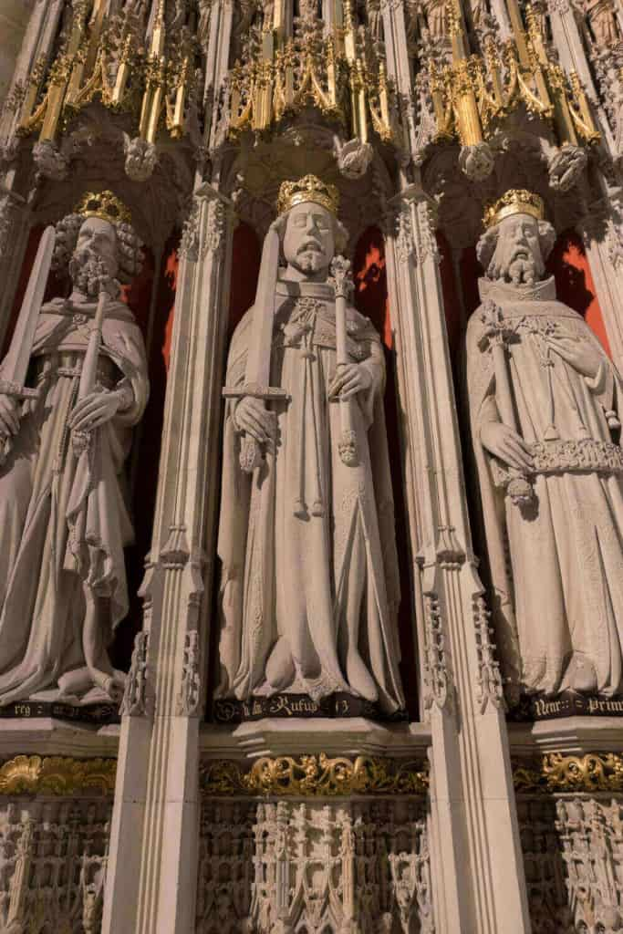 William the Conqueror, William II Rufus, and Henry Primus (I) from the York Minster Kings' Screen