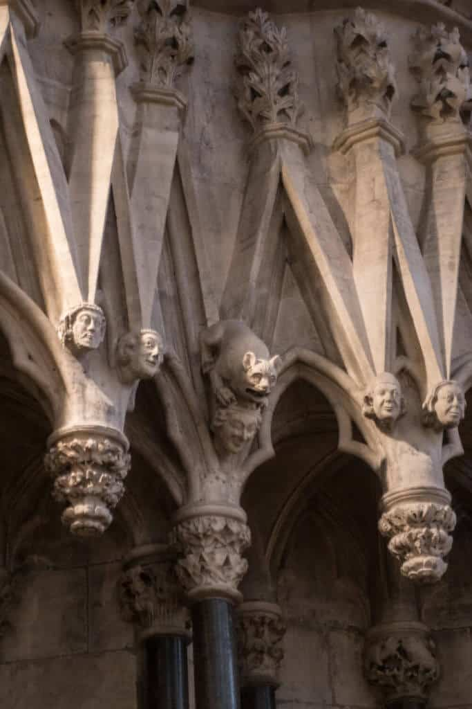 Stone heads at the York Minster chapter House