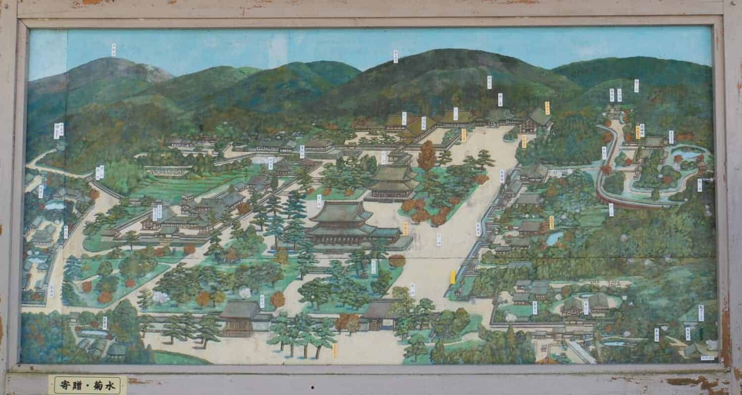 Zen temples of Kyoto temple map