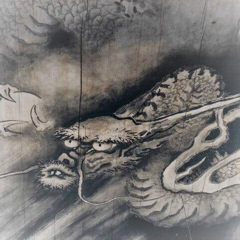 Square image of the cloud dragon at Tofukuji temple Kyoto