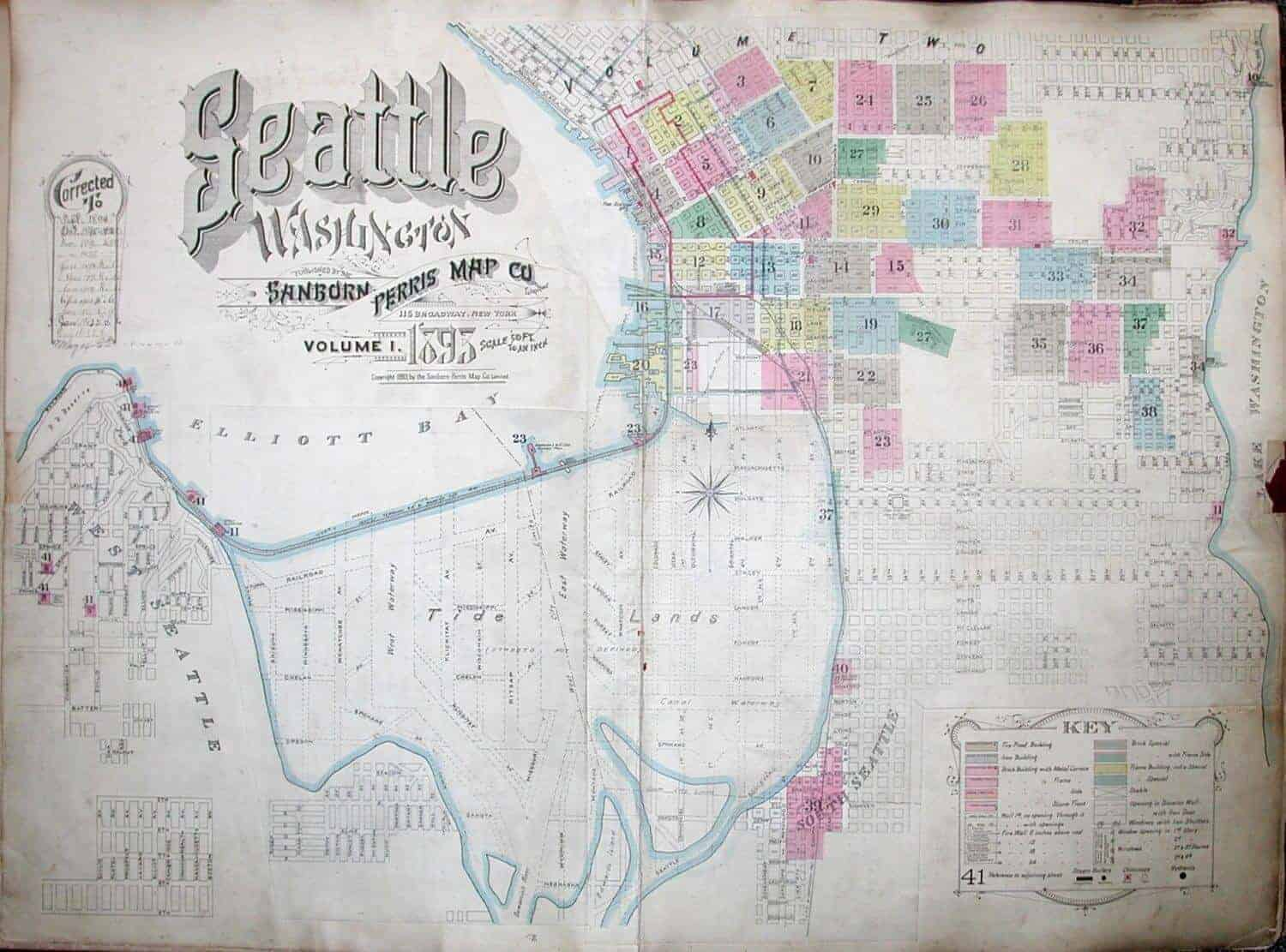 Vintage Seattle Archives Old Seattle Map historic Seattle photos