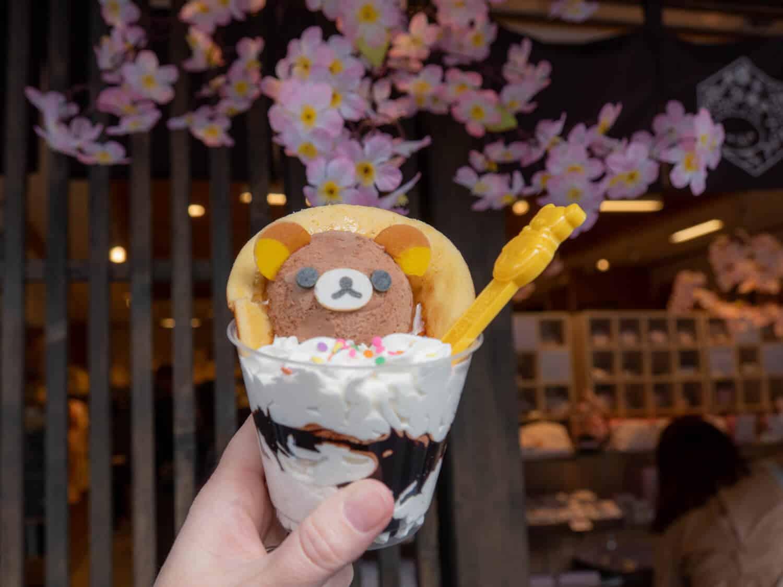 Arashimaya Kyoto cute Rilakkuma dessert kawaii