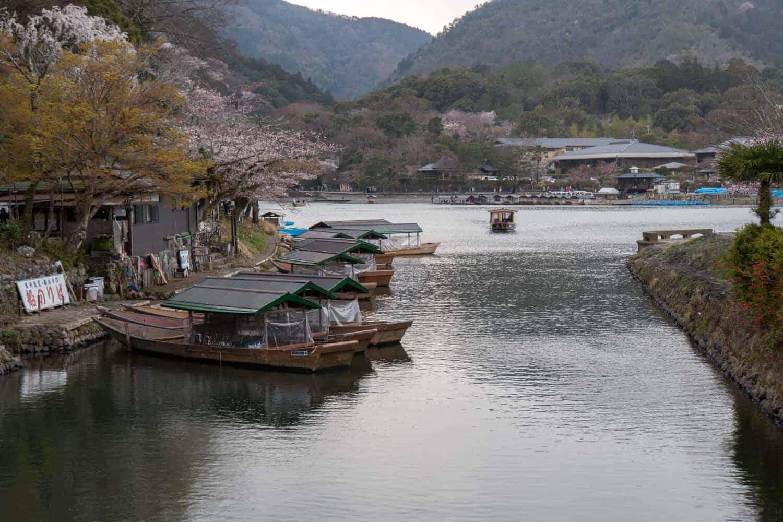 Arashiyama Kyoto River Boats