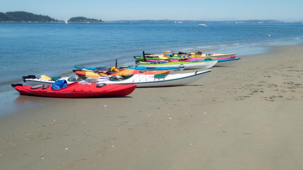 Kayaks on the Beach at Blake Island Outdoor Activities Washington State Outdoor Activities Pacific Northwest Outdoor Recreation Kakaying