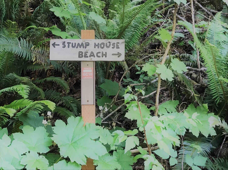 Guillemot Cove Nature Reserve Stump House Sign