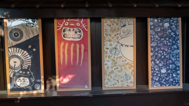 silk totoro ghibli wall hangings geek kyoto otaku kyoto