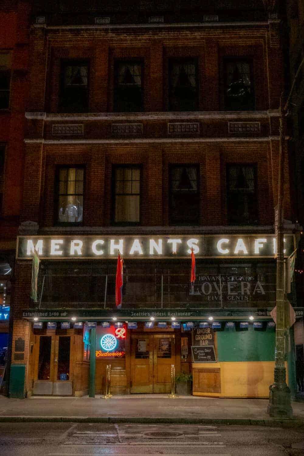 Merhants Cafe Seattle Ghost Tours