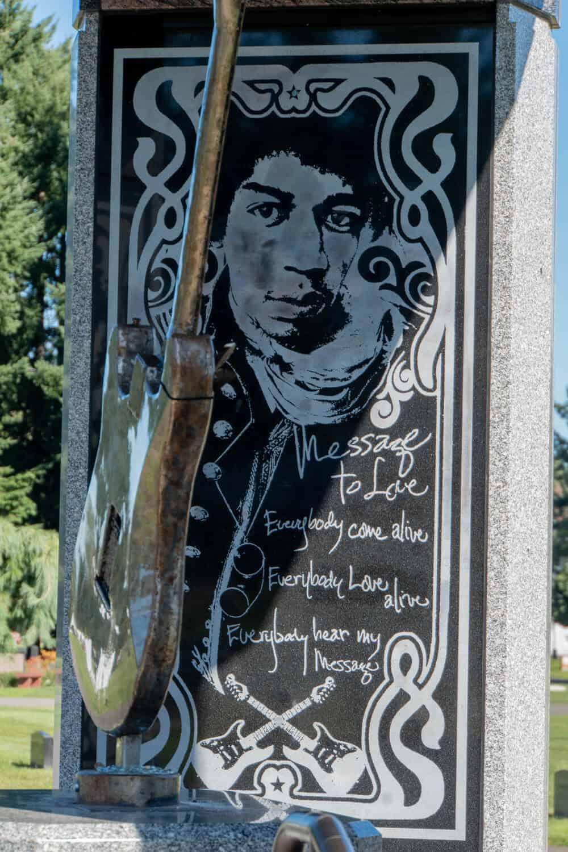 Famous Seattle graves Jimi Hendrix gravesite