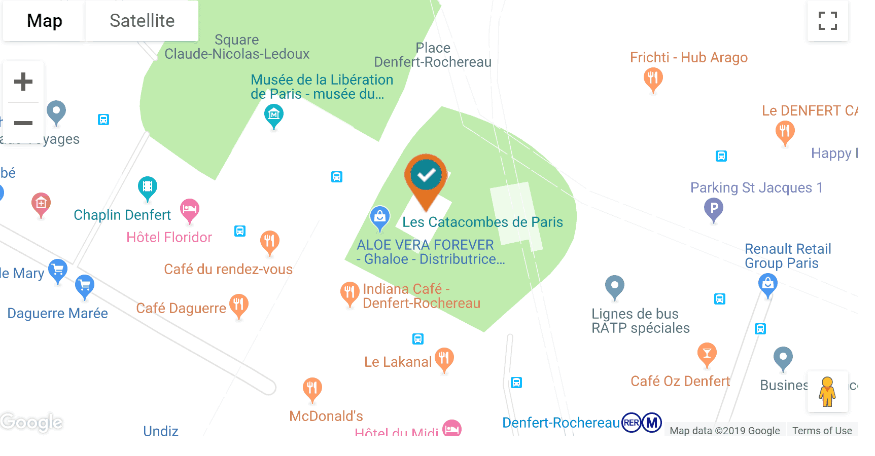 visiting the paris catacombs map