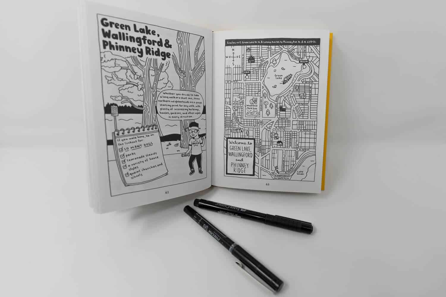 Seattle Walk Report Travel Sketch Book