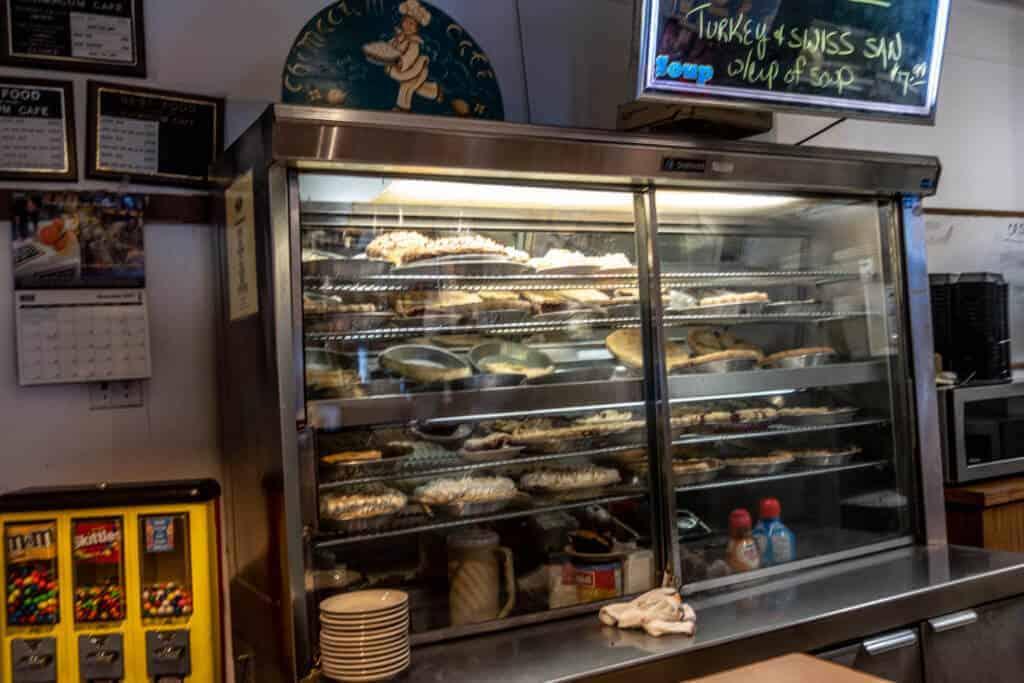 Chimacum Cafe Pie Case