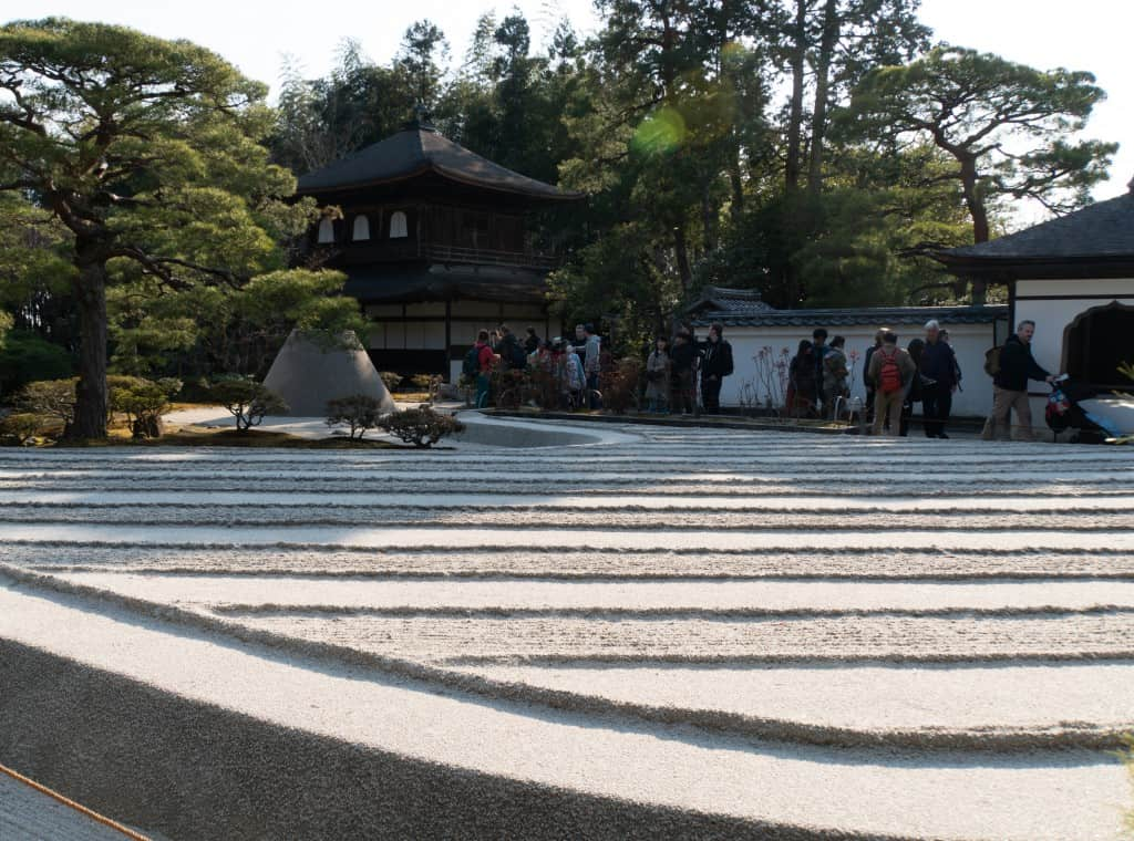 Dry garden at Ginkaku ji end to Philosopher's Path route