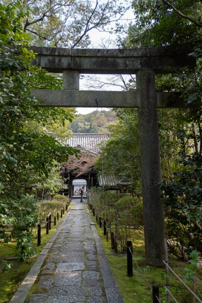Path at Konchi-in temple in Kyoto near path of philosophy