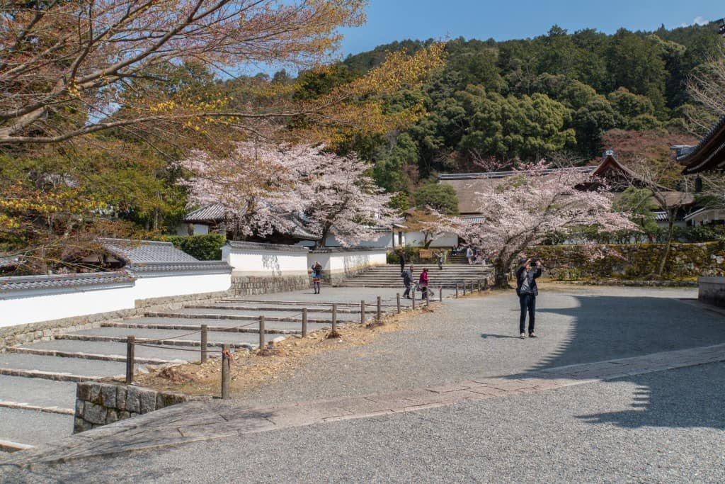 An entrance near Nanzen-ji temple near the Path of Philosophy Kyoto Path of Philosophy Route