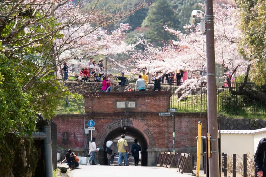 Spiral brick funiciular tunnel kyoto Near Philosophers Path